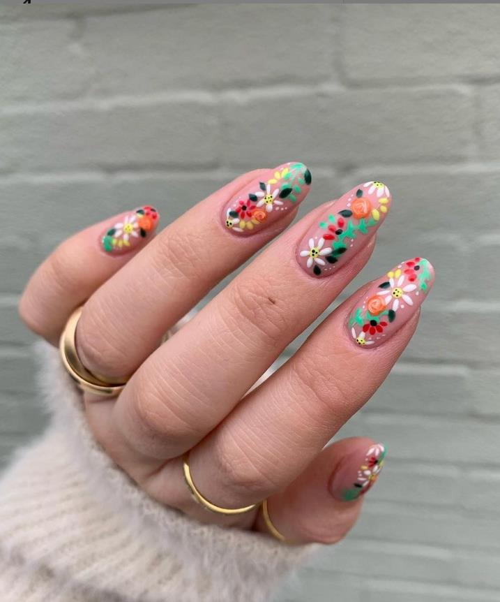 other daisy nails designs for summer nails 2021