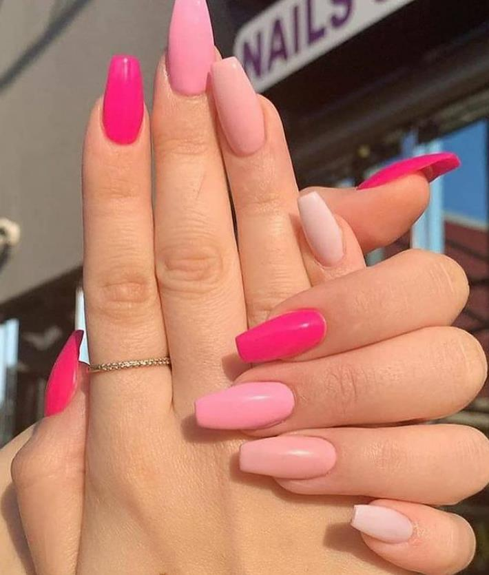 pastel coffin nails for summer 2021