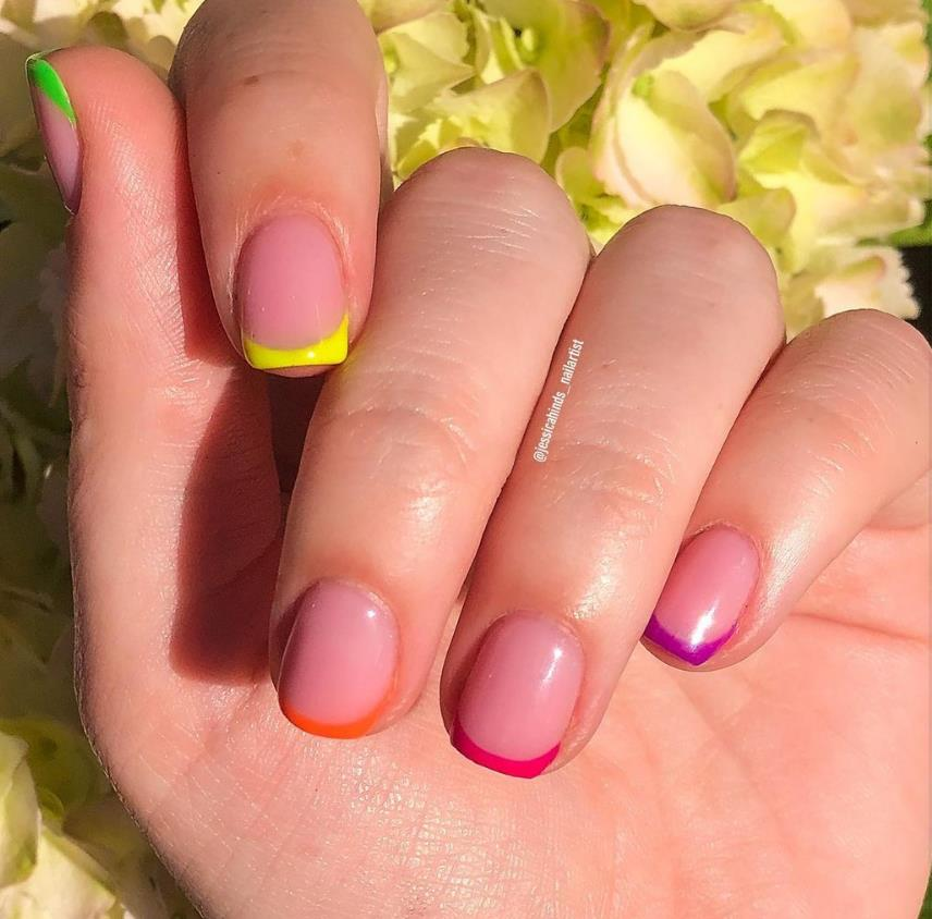 Rainbow  nails make your nails more colorful