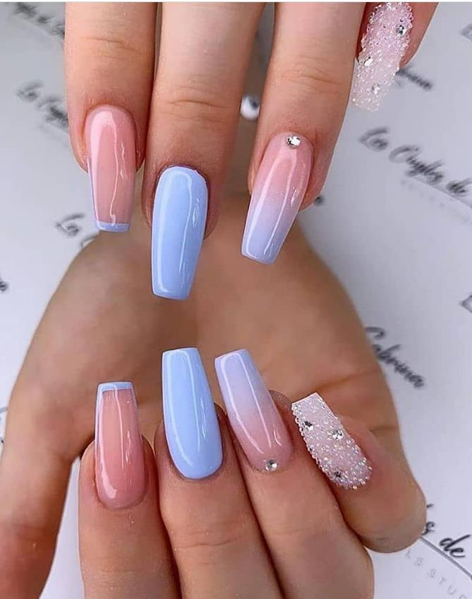 other pastel coffin nails for summer