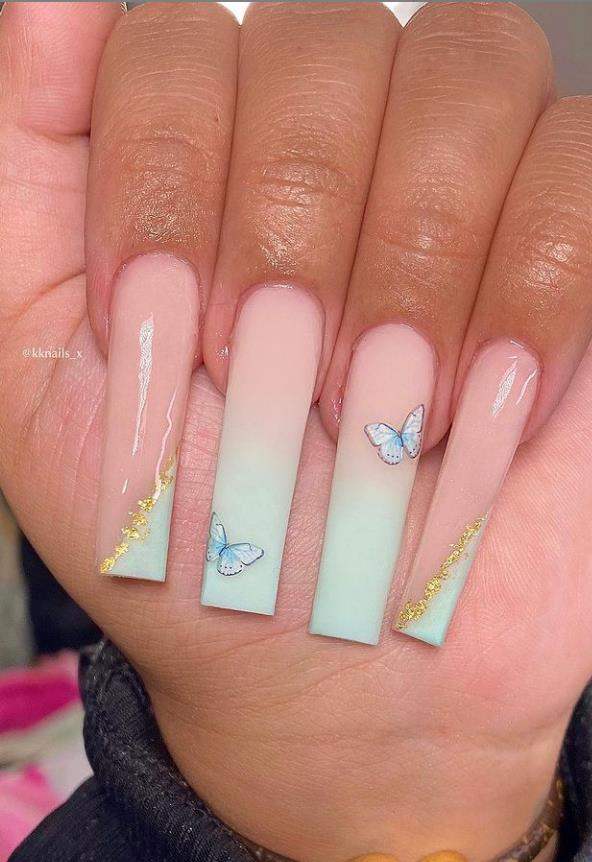 the spring butterfly nails