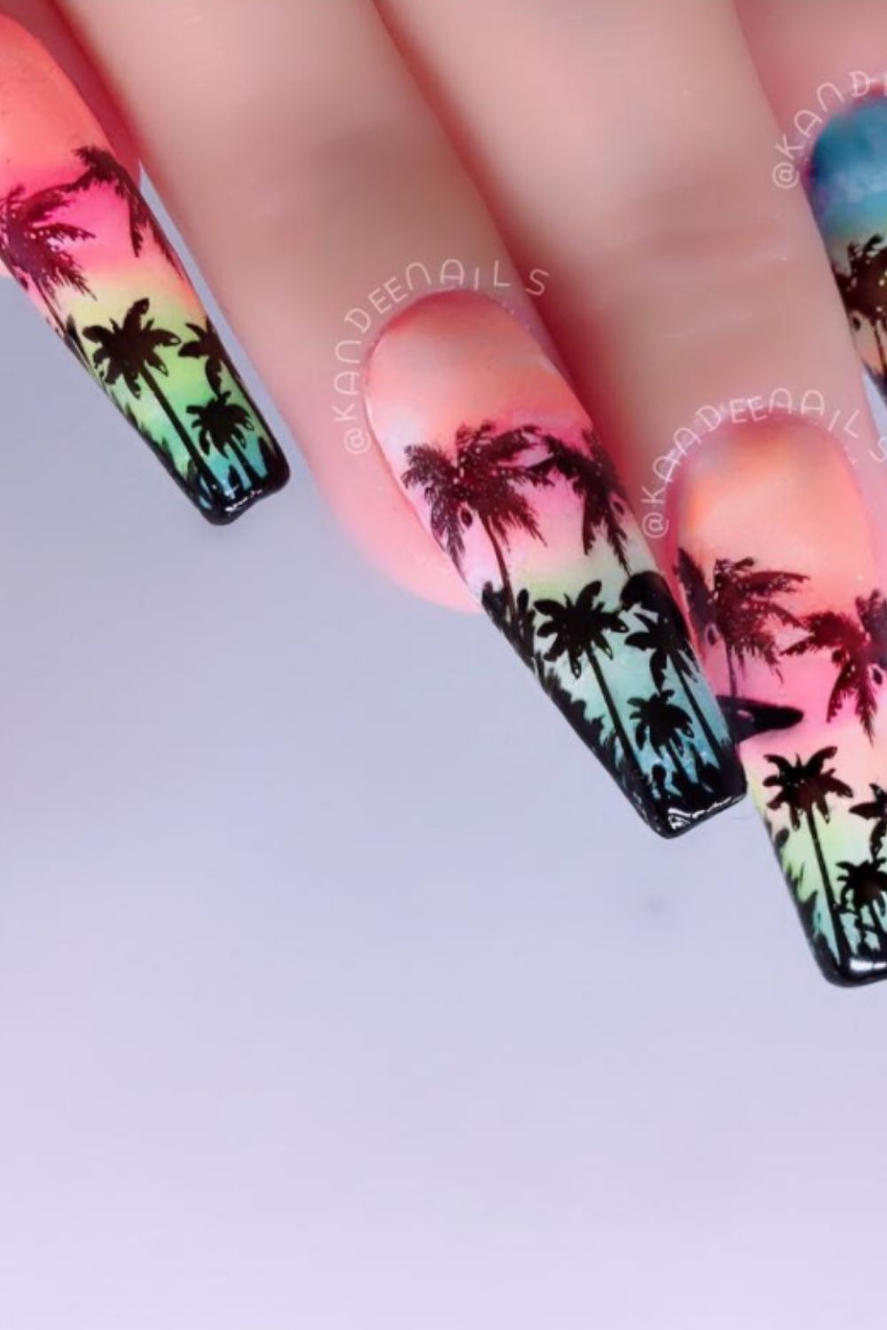 Wonderful Palm Tree Nails For Beach Nail Ideas For Summer!