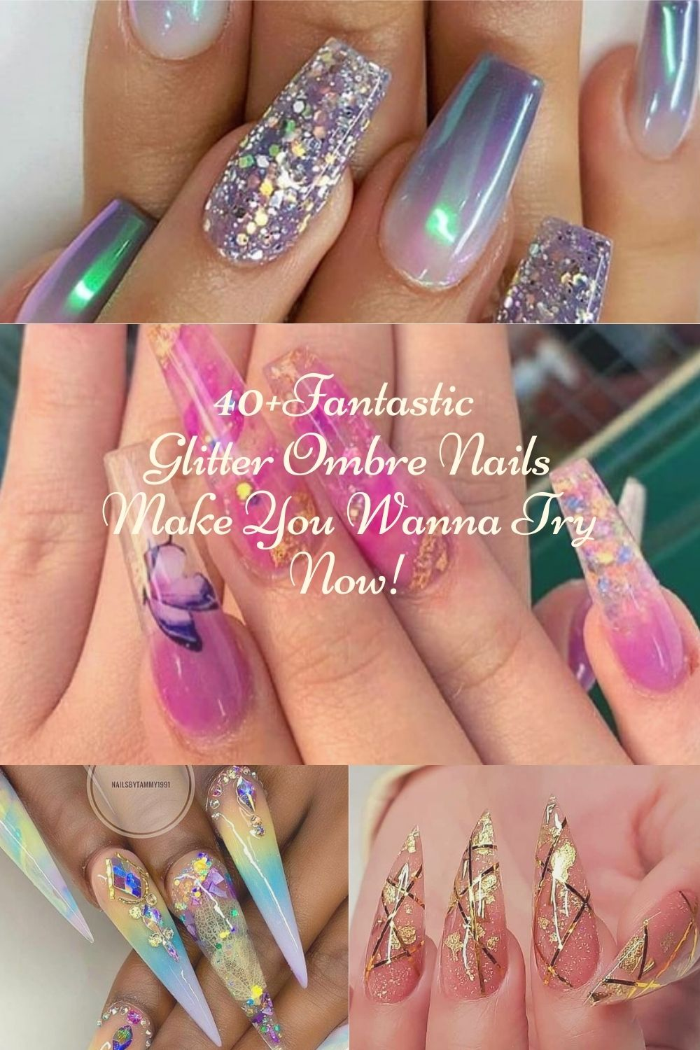 40+Fantastic Glitter Ombre Nails Make You Wanna Try Now