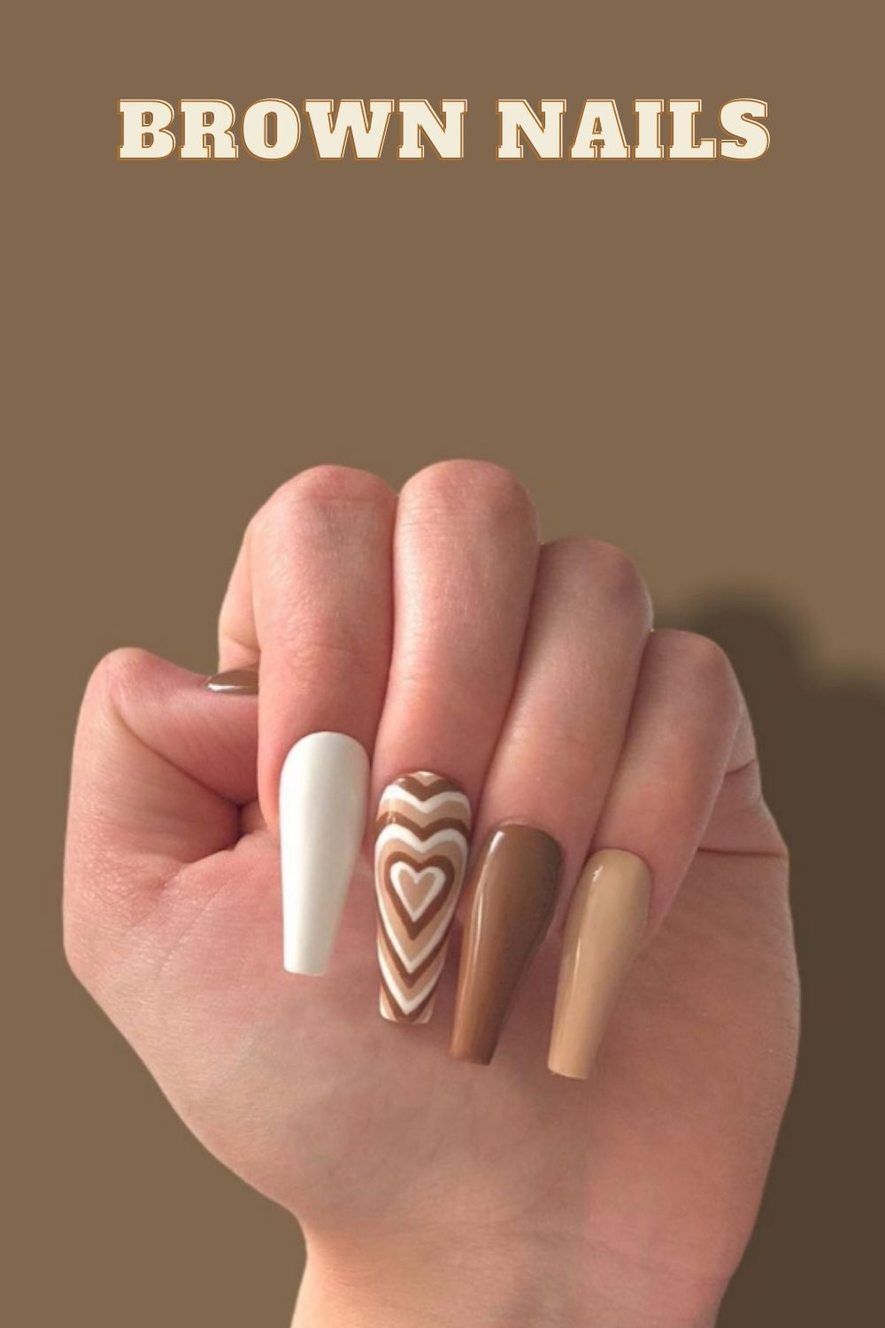 Brown nails   the best fall nails design trendy get ready now