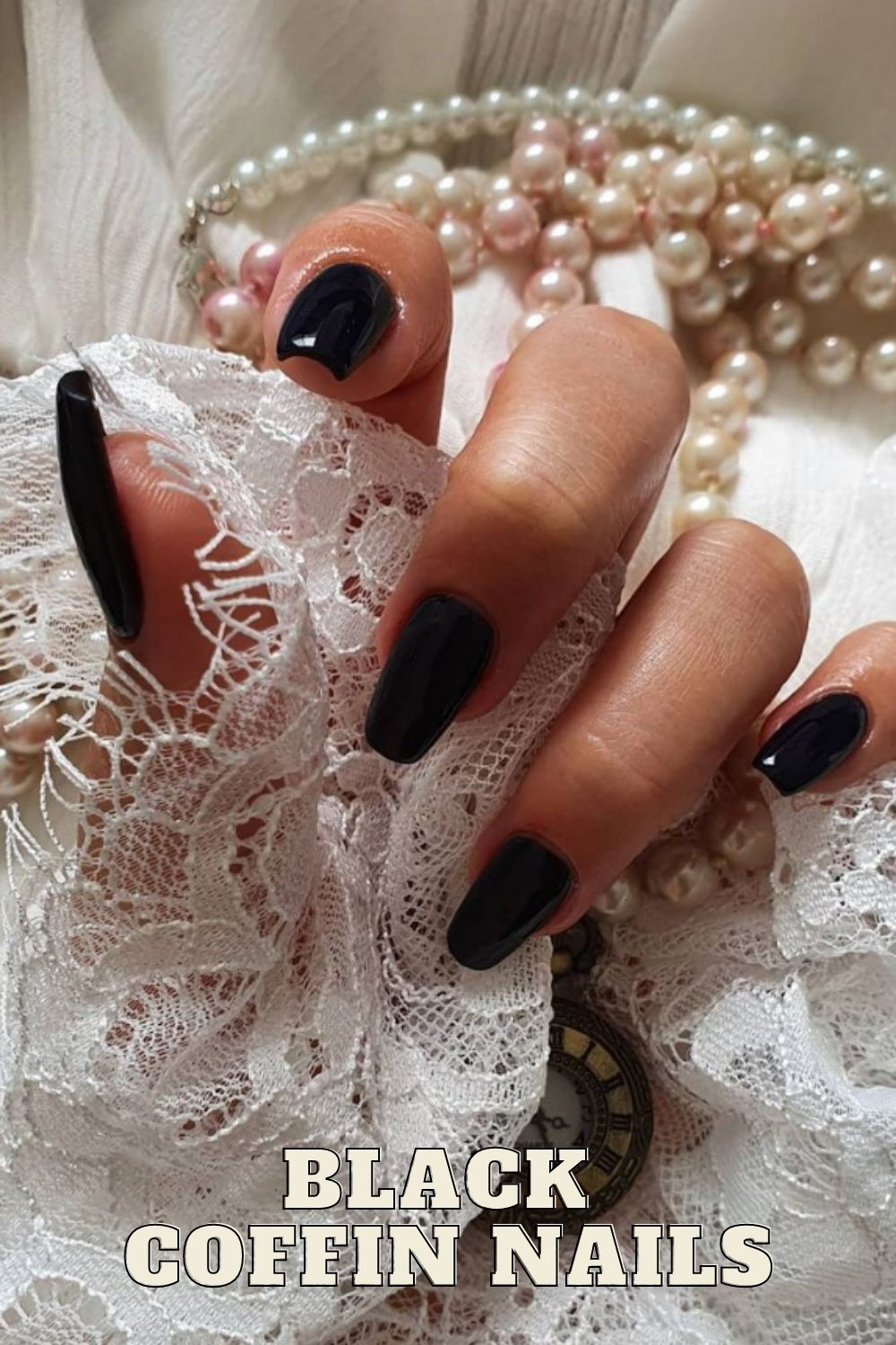 Black coffin nails | get ready for fall nails colors polishes art