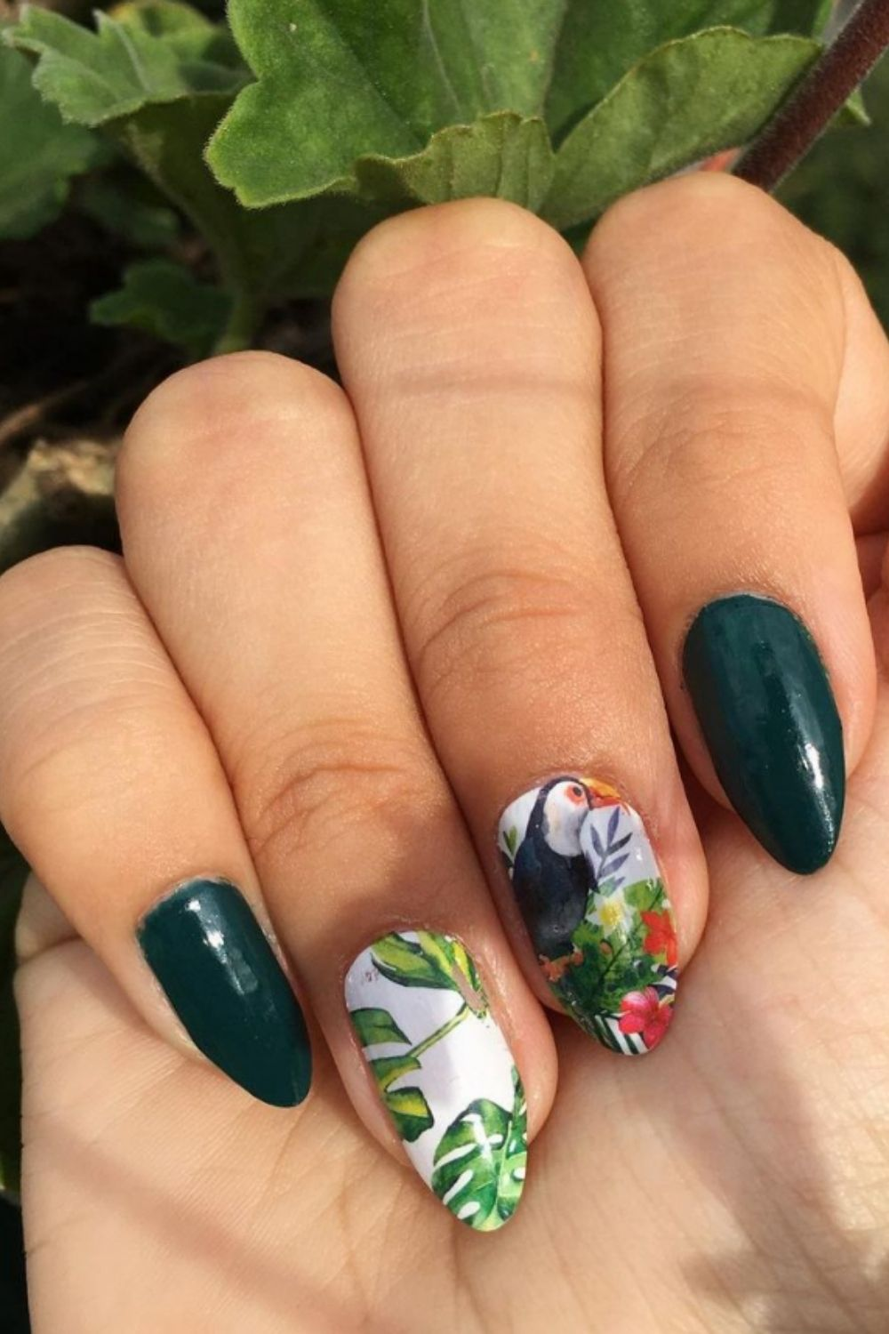 Almond acrylic nails   Fresh Design Ideas for Almond-Shaped Nails