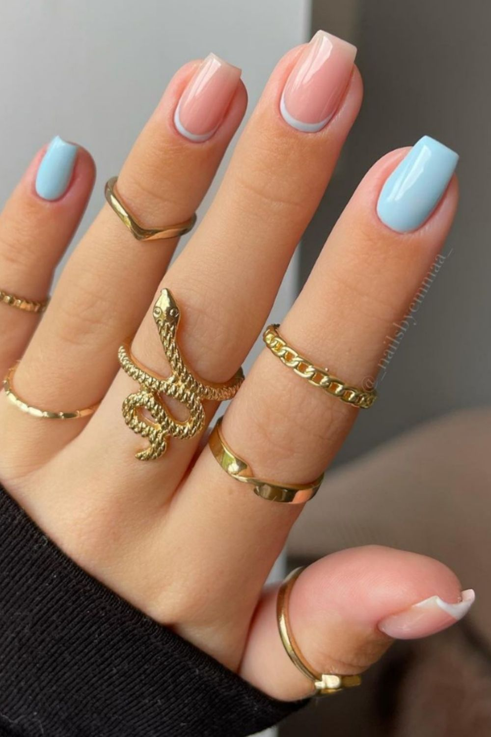 PASTEL TIP NAILS | 37 AMAZING NAIL DESIGNS FOR YOUR SUMMER 2021