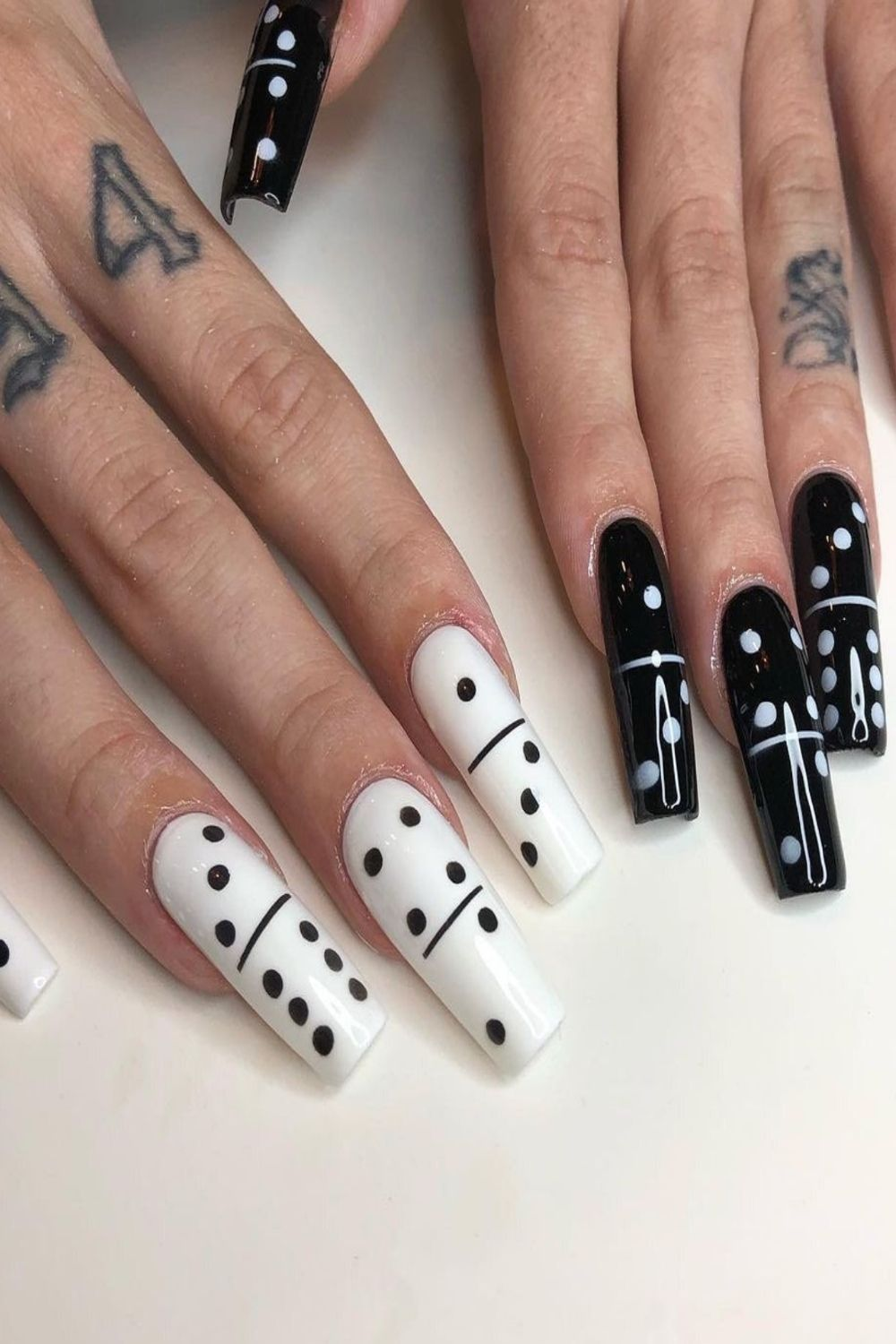 28 Best black and white nails to try 2021!