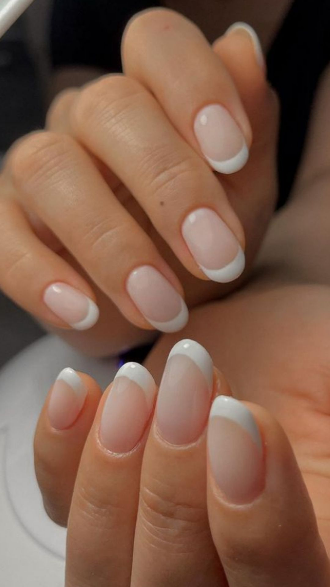 Milky white nails   white nails natural nails are trendy now