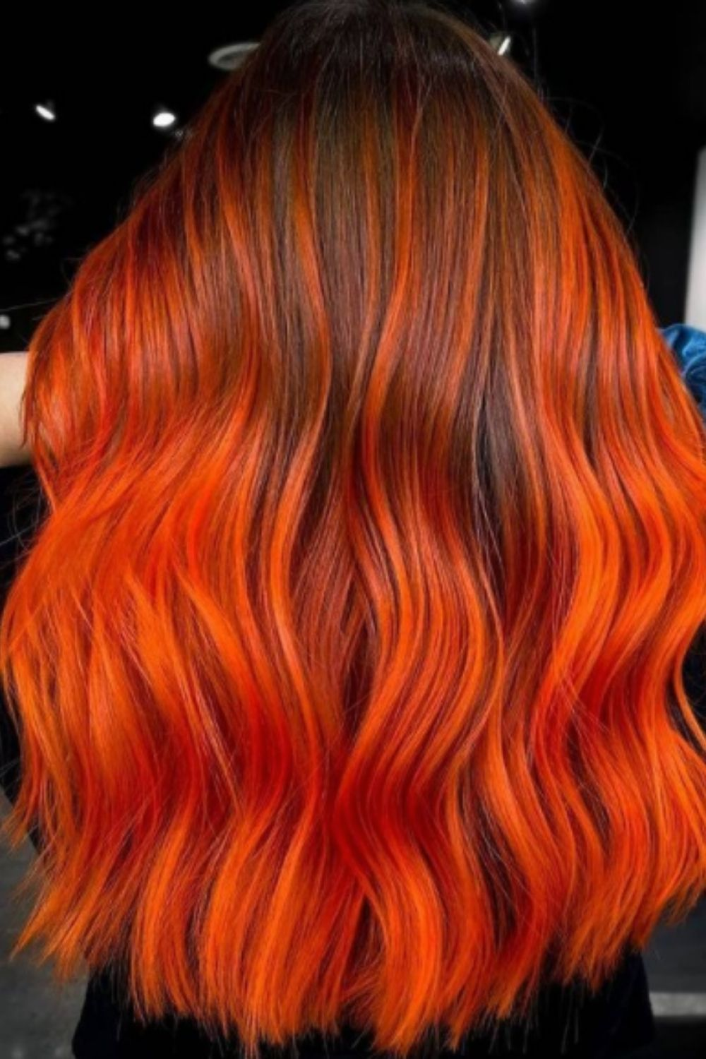 What is red highlight for fall hair color trends?