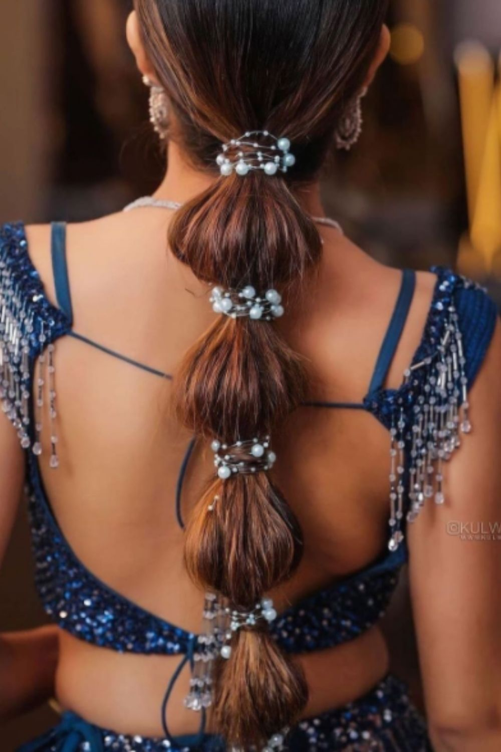 How do you wear with bubble ponytail for homecoming hairstyle?